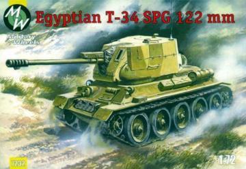 T-34-122 Egypt Army · MW 7232 ·  Military Wheels · 1:72