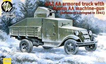 GAZ AA armored truck with Maxim AA gun · MW 7244 ·  Military Wheels · 1:72