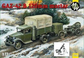 GAZ-42 & 120 mm mortar · MW 7250 ·  Military Wheels · 1:72