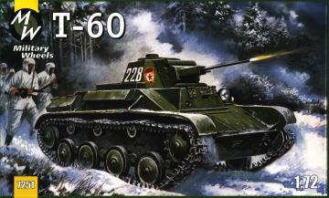 T-60 tank · MW 7251 ·  Military Wheels · 1:72