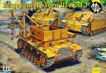 Bergpanzerwagen III Ausf.J · MW 7255 ·  Military Wheels · 1:72
