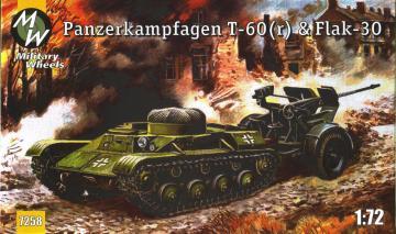 T-60 & Flak-30 · MW 7258 ·  Military Wheels · 1:72