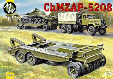 ChMZAP-5208 trailer · MW 7260 ·  Military Wheels · 1:72