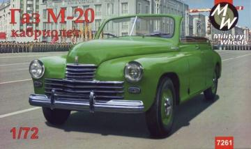 GAZ-M20 Pobeda cabriolet, Soviet car · MW 7261 ·  Military Wheels · 1:72