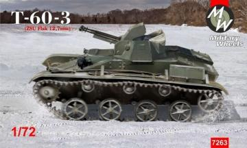 T-60-3 (ZSU Flak 12,7 mm) · MW 7263 ·  Military Wheels · 1:72