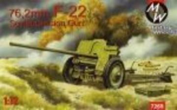 F-22 Soviet 76, 2mm division gun · MW 7269 ·  Military Wheels · 1:72