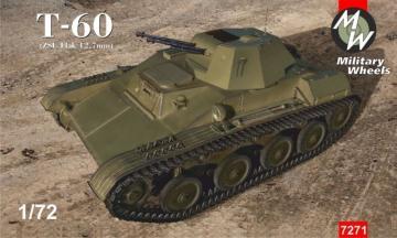 Tank T-60 (ZSU Flak 12,7 mm) · MW 7271 ·  Military Wheels · 1:72