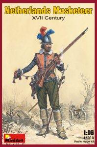 Niederländischer Musketier XVII. Jhdt. · MA 16010 ·  Mini Art · 1:16