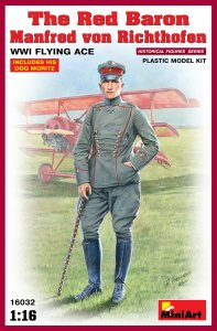 Red Baron,Manfred v.Richthofen WW1Flying · MA 16032 ·  Mini Art · 1:16