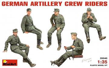 Deutsche Artillerie Crew (Mitfahrer) · MA 35040 ·  Mini Art · 1:35