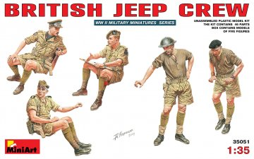 Britische Jeep Crew · MA 35051 ·  Mini Art · 1:35