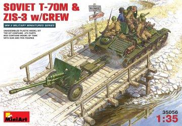 Sowjetische T-70M + Zis-3 mit Crew · MA 35056 ·  Mini Art · 1:35