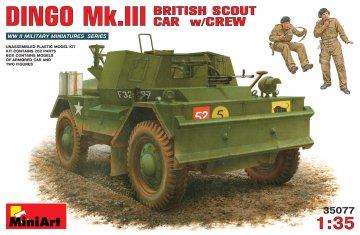 Dingo Mk. III Britischer Spähwagen with Crew · MA 35077 ·  Mini Art · 1:35