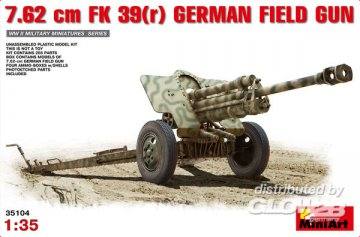 7,62cm F.K.39 German Field Gun · MA 35104 ·  Mini Art · 1:35