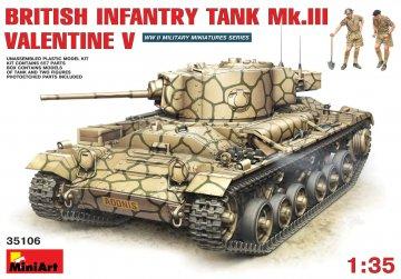 Brit. Infant. Panzer Mk.3 Valentine Mk.5 · MA 35106 ·  Mini Art · 1:35