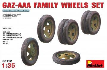 GAZ-AAA Family Wheels set · MA 35112 ·  Mini Art · 1:35