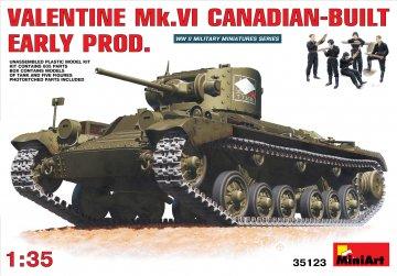 Valentine Mk 6. Canadian - built Early P · MA 35123 ·  Mini Art · 1:35