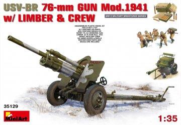 USV-BR 76mm Gun Mod.1941 with Limber & Crew · MA 35129 ·  Mini Art · 1:35