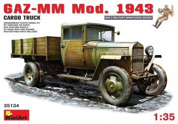 GAZ-MM.Mod. 1943. Cargo Truck · MA 35134 ·  Mini Art · 1:35