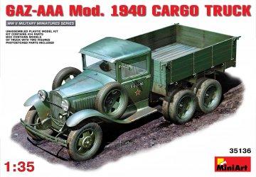 GAZ-AAA Mod. 1940 Cargo Truck · MA 35136 ·  Mini Art · 1:35