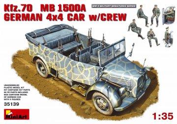 Kfz. 70 (MB L1500A)German 4x4 Car w/Crew · MA 35139 ·  Mini Art · 1:35