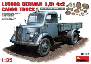 MB L1500S. German 4x2 Cargo Truck · MA 35142 ·  Mini Art · 1:35