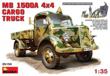 MB L 1500 A 4x4 Cargo Truck · MA 35150 ·  Mini Art · 1:35
