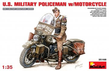 U.S.Millitary Policeman with Motorcycle · MA 35168 ·  Mini Art · 1:35