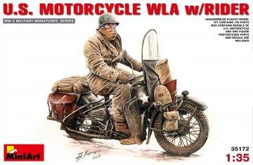 U.S. Motorcycle WLA with Rider · MA 35172 ·  Mini Art · 1:35