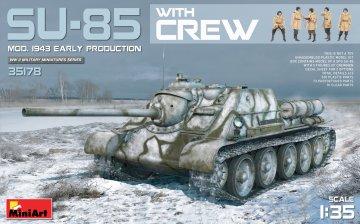 SU-85 Mod.1943(Early Produktion) w/Crew · MA 35178 ·  Mini Art