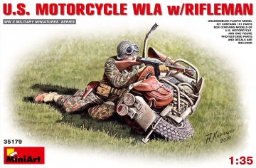 U.S.Motorcycle WLA with Rifleman · MA 35179 ·  Mini Art · 1:35