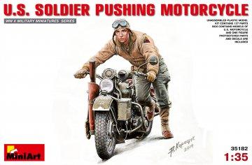 U.S. Soldier Pushing Motorcycle · MA 35182 ·  Mini Art · 1:35
