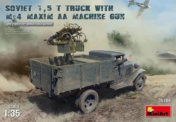 Soviet 1,5t Truck w/M-4 Maxim AA Machine Gun · MA 35186 ·  Mini Art · 1:35
