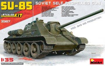 SU-85 Mod.1943 (Mid Production) w/ Full Interior · MA 35187 ·  Mini Art · 1:35