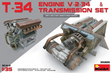 T-34 Engine(V-2-34) & Transmission Set · MA 35205 ·  Mini Art · 1:35
