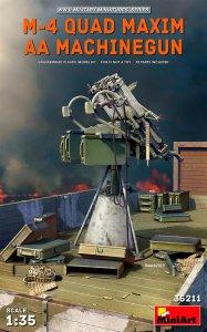 M-4 Quad Maxim AA Machinegun · MA 35211 ·  Mini Art · 1:35