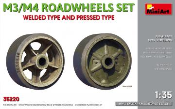 M3/M4 Roadwheels Set - welded type and pressed type · MA 35220 ·  Mini Art · 1:35