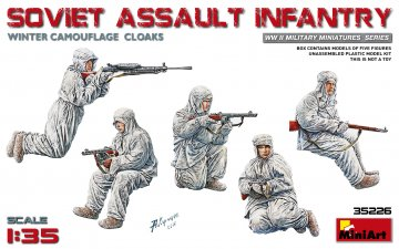Soviet Assault Infantry (Winter Camouflage Cloaks) · MA 35226 ·  Mini Art · 1:35