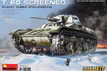 T-60 Screened (Plant No.264,Stalingrad) - Interior Kit · MA 35237 ·  Mini Art · 1:35