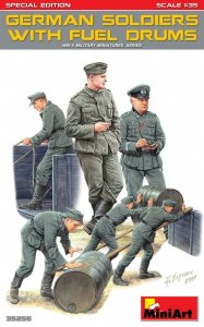 Germans Soldiers w/Fuel Drums - Special Edition · MA 35256 ·  Mini Art · 1:35
