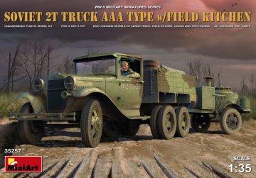 Soviet 2 t Truck AAA Type w/ Field Kitchen · MA 35257 ·  Mini Art · 1:35