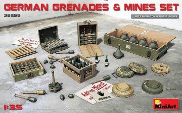 German Grenades & Mines Set · MA 35258 ·  Mini Art · 1:35
