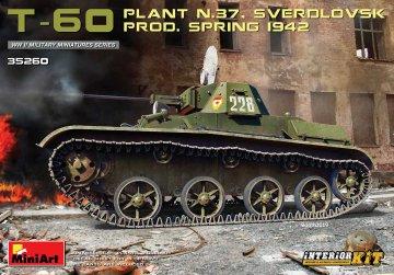 T-60 (Plant No.37,Sverdlovsk) Prod.Spring 1942 - Interior Kit · MA 35260 ·  Mini Art · 1:35