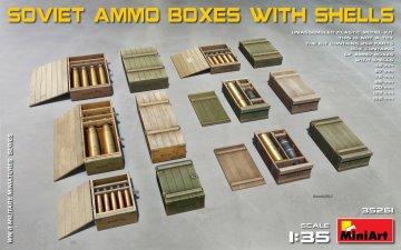 Soviet Ammo Boxes with Shells · MA 35261 ·  Mini Art · 1:35