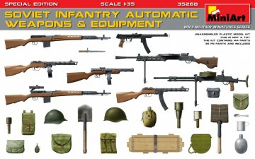 Soviet Infantry Automatic Weapons & Equipment.Special Edition (PE Parts) · MA 35268 ·  Mini Art · 1:35