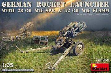 German Rocket Launcher with 28cm WK Spr & 32cm WK Flamm · MA 35269 ·  Mini Art · 1:35