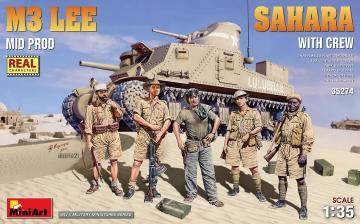 M3 Lee Mid Prod. Sahara w/Crew · MA 35274 ·  Mini Art · 1:35