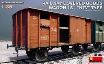 Railway Covered Goods Wagon 18t NTV-Type · MA 35288 ·  Mini Art · 1:35