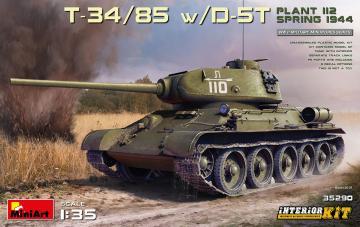 T-34/85 w/D-5T. Plant 112. Spring 1944 - Interior Kit · MA 35290 ·  Mini Art · 1:35