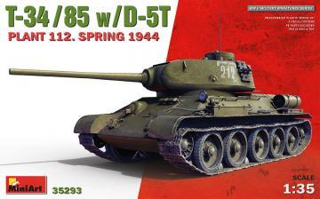 T-34-85 w/D-5T. Plant 112. Spring 1944 · MA 35293 ·  Mini Art · 1:35
